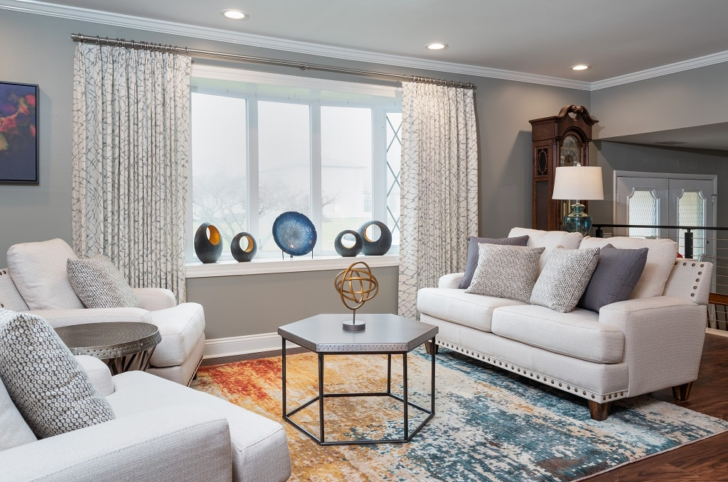 Contemporary Living Room Seating Area