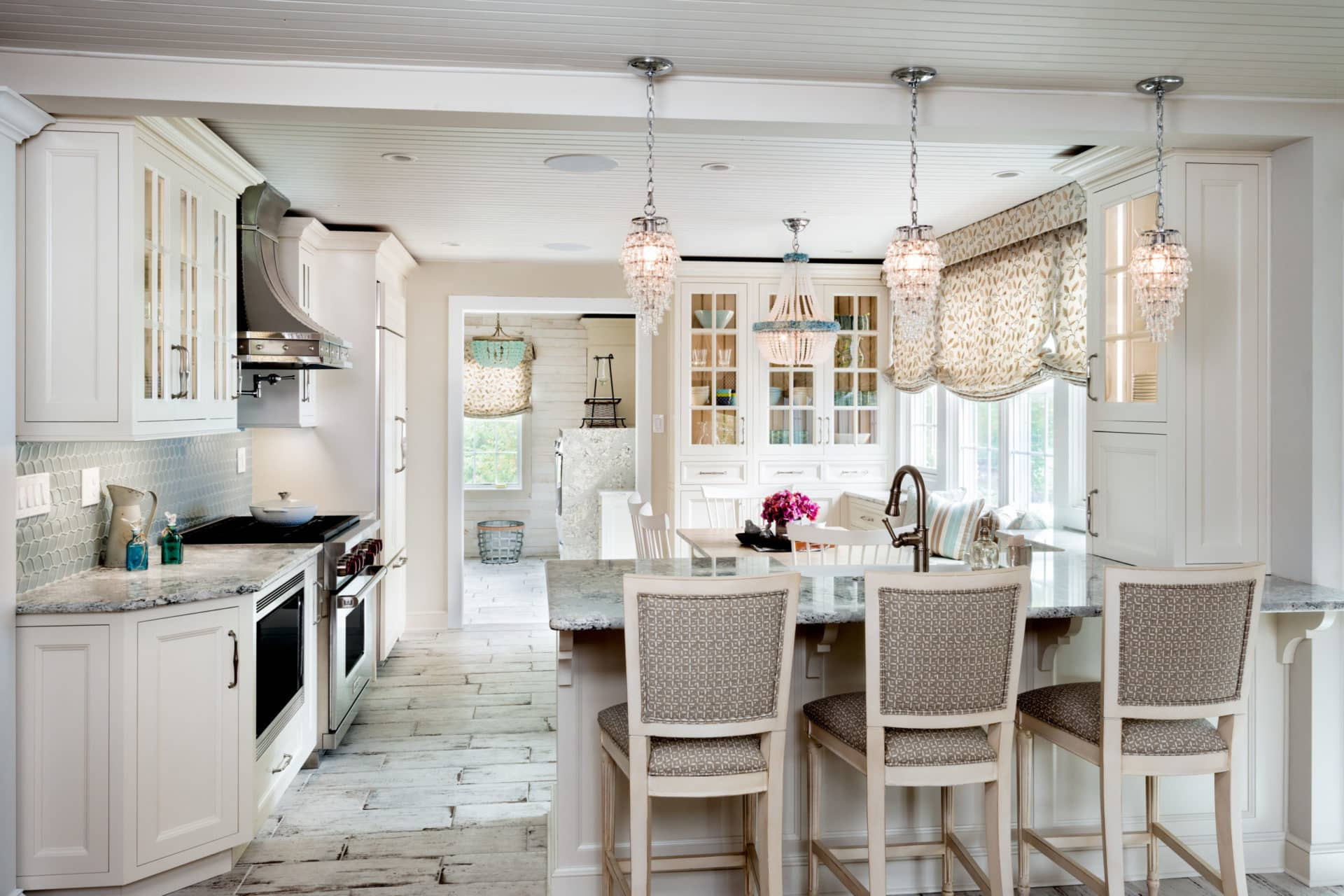 Beach House Chic Kitchen Featuring Nina Green Signature Series Cabinetry Designer Lux Kitchen