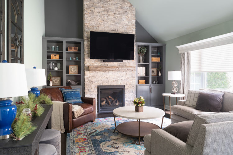 Transitional Rustic Living Room