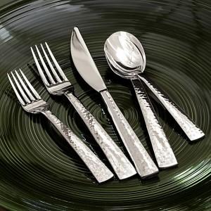 Hammered Silver Silverware