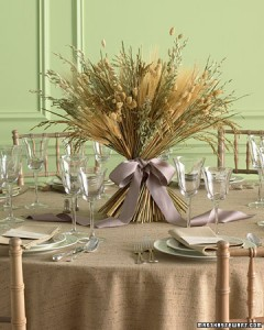 Amber Waves of Grain Table Centerpiece