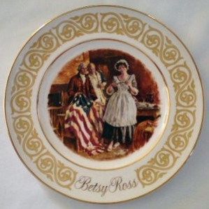 Avon Exclustive Wedgewood China Betsy Ross Plate
