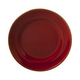 Beaded Merlot Dinner Plate