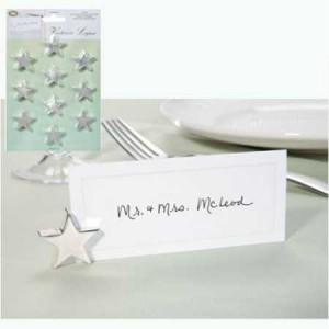 Silver Star Placecard Holder