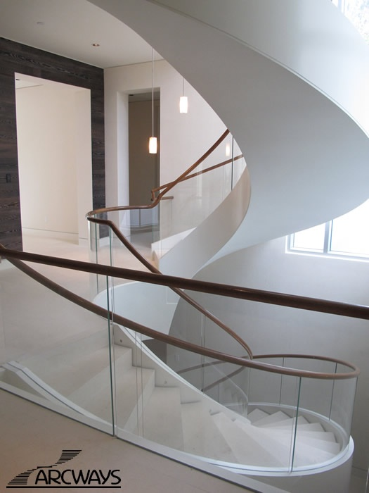Nina Green of NGD Interiors highlights her favorite things at the 2013 Architectural Digest Home Design Show, this modern Archways custom staircase is curvilinear and whimsical.